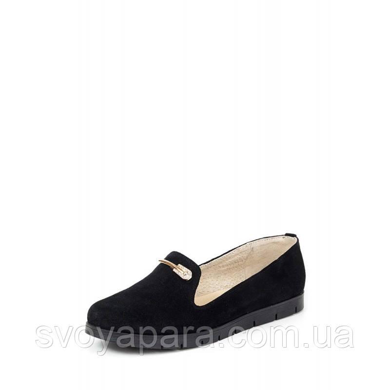 Балетки женские черные замшевые (0232)