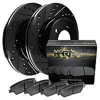 Комплект передних дисков и колодок HART brakes для Nissan Leaf 2011-2017, фото 1