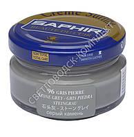 Увлажняющий крем для обуви Saphir Creme Surfine, цв. серый гранит (96), 50 мл