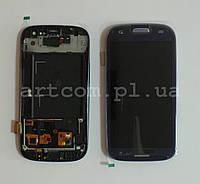 Модуль тачскрин + дисплей + рамка Samsung Galaxy S3  i9300i/I9308 Dual SIM Blue/White