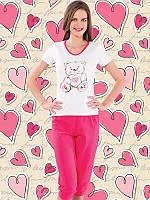 Красивый комплект футболка+капри батал 4128