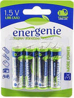 Батарейка AA EnerGenie EG-LR6-4BL блистер (4шт) (EG-LR6-4BL)