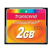 Карта памяти Compact Flash 2Gb 133х Transcend (TS2GCF133)