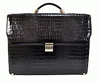 Портфель Karlet 5620black-3 кожаный Черный