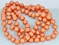 СП 2975-2 Намисто, перли великий помаранчевий, довжина вдвічі 74см
