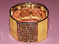 Браслет из желтых пластин на резинке 300385, фото 1
