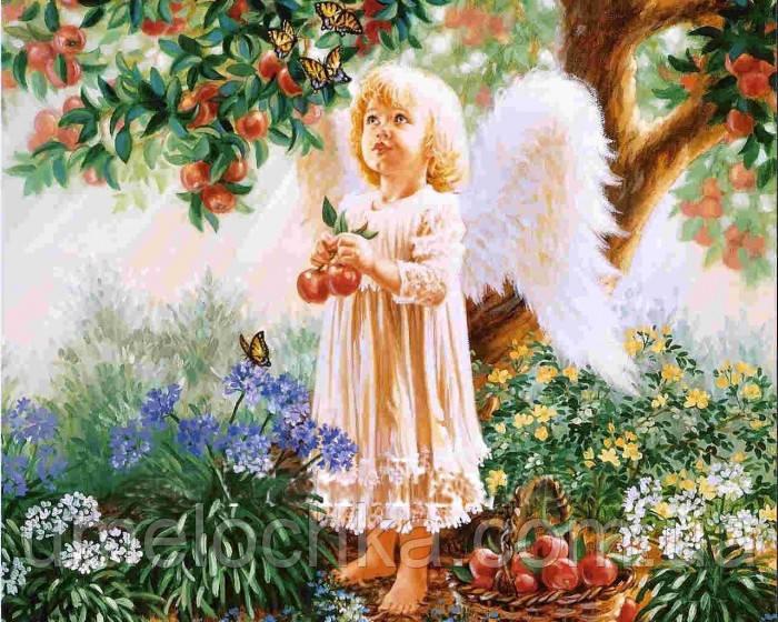 Набор для творчества со стразами  НА ПОДРАМНИКЕ Райское яблоко, Артикул: 198709, Размер: 40*50