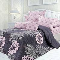 Комплект постельного белья розово-серого цвета