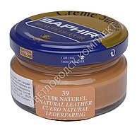 Увлажняющий крем для обуви Saphir Creme Surfine, цв. натуральная кожа (39), 50 мл