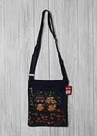 Пляжная женская сумочка через плечо с интересным принтом