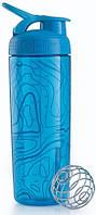 Шейкер спортивный BlenderBottle Signature Sleek 820ml (ORIGINAL) Aqua Topt Flow
