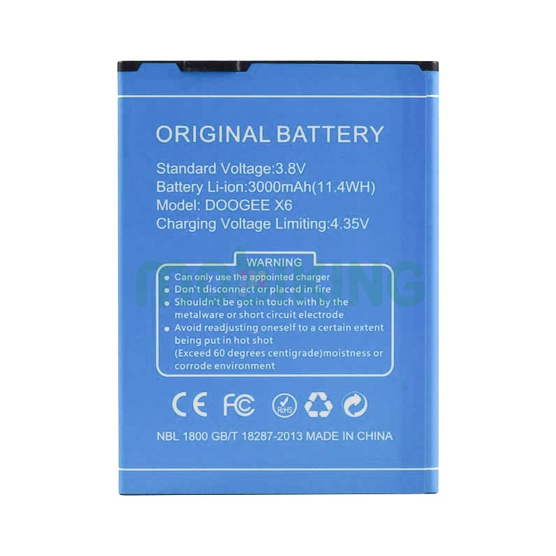 Оригинальная батарея Doogee X6/X6 Pro для мобильного телефона, аккумулятор.