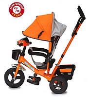 Трехколесный велосипед Baby Trike CT-61 , надув колеса, звук, свет, оранжевый