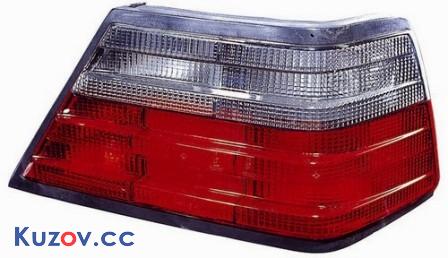 Фонарь задний Mercedes E-Class W124 84-96 левый (Depo) красно-дымчатый, белая вставка 440-1910L-UE-SR 2VP004686151
