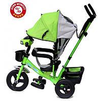 Трехколесный велосипед Baby Trike CT-61 , надув колеса, звук, свет, зеленый