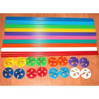 Палочки для воздушных шаров с насадкой, разноцветные