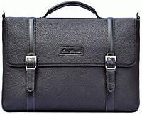 Портфель Issa Hara BH7 (11-01) кожаный Черный