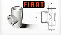 Тройник Ø25-20-20 полипропиленовый  Firat