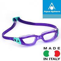 Очки для плавания женские KAMELEON LADY VIOL/AQUA L/CL (фиолетово-бирюзовый; линзы прозрачные), фото 1