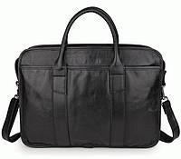 Портфель S.J.D. 7321A кожаный Черный