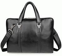 Портфель S.J.D. 7326A кожаный Черный