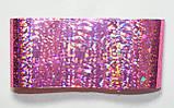 Фольга для ногтей 1 метр фиолетовая с блеском, разные расцветки, фото 5