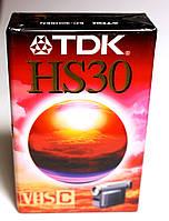 Видеокассета  TDK HS30 для видеокамер стандарта VHS C