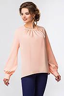 Розовая блузка со складами и объемными рукавами [Размер:: m (46)]