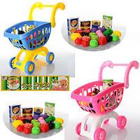 Візок 9639-85-86 супермаркет, продукти, 2 кольори, кул., 26-40-18 см