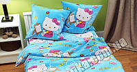 Детский полуторный комплект Hello Kitty-9 (Китти), бязь (хлопок)