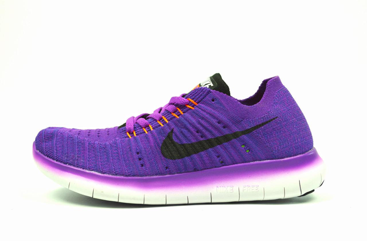 Фиолетовые женские спортивные кроссовки Nike Free Run Flyknit ( новинки весна, лето, осень )