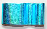 Фольга для ногтей 1 метр голубая ,синяя разные рисунки, фото 5