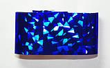 Фольга для ногтей 1 метр голубая ,синяя разные рисунки, фото 6