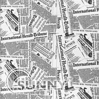 Рулонные шторы News черно- белые, газетка