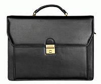 Портфель Katana k63025-1 кожаный Черный