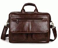 Портфель S.J.D. 7085C кожаный Коричневый