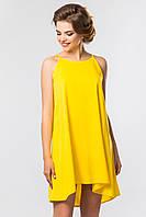 Желтое платье с ассиметричным низом [Размер:: m (46)]