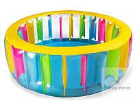Детский надувной басейн с цветными с вставками Intex