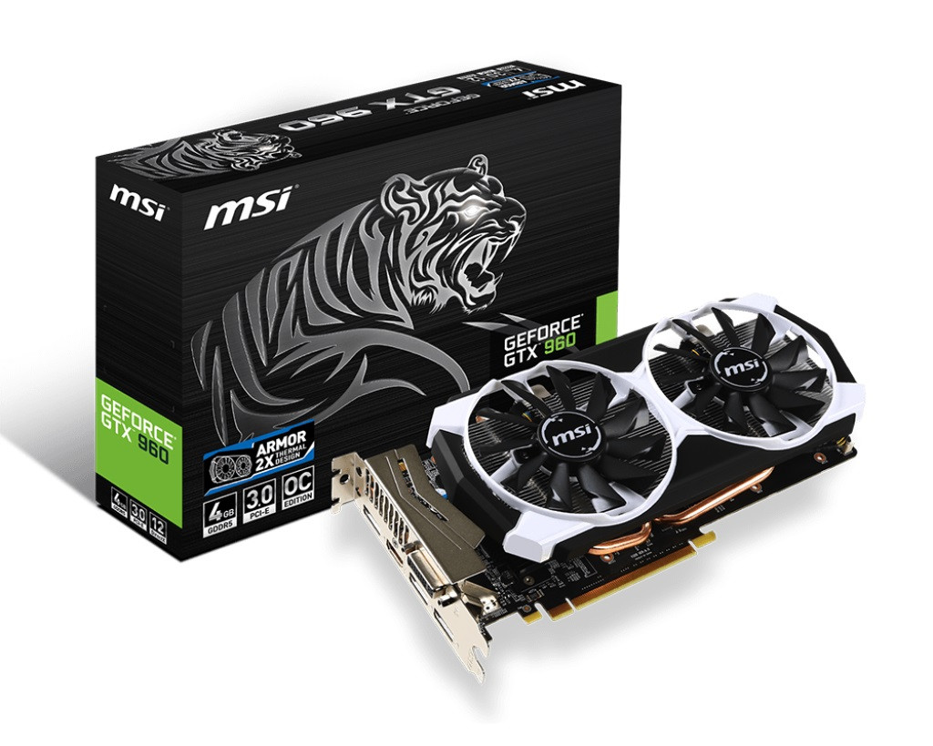 "Видеокарта MSI GTX 960 Armor OC Edition 4GB GDDR5 ""Over-Stock"""