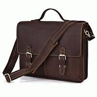 Портфель S.J.D. 7090R кожаный Коричневый