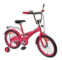 Велосипед 2-х колес 18'', со звонком, зеркалом, руч.тормоз (1шт)(171830)
