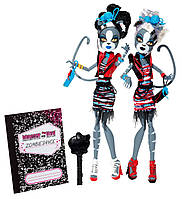Куклы Монстер Хай Пурсефона и Мяулодия Зомби Шейк (Monster High Purrsephone, Meowlody Zombie Shake), фото 1