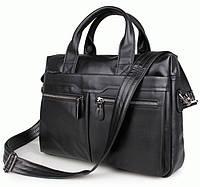 Портфель S.J.D. 7122A-1 кожаный Черный