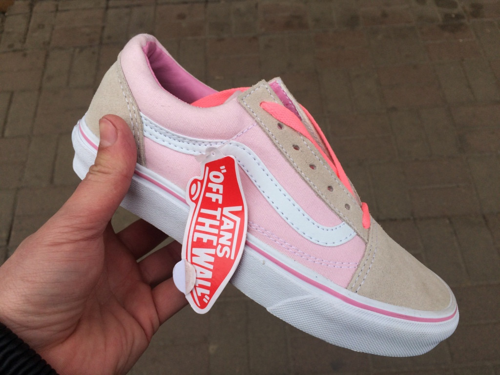 Vans Old Skool Pink Grey   кеды женские вэнс  розовые-серые  продажа ... 7aa2d7e3365