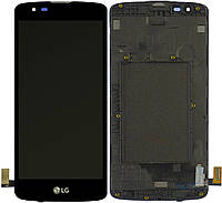Дисплей (экран) для телефона LG K350E K8, K8 K350N, Phoenix 2 + Touchscreen with frame Original Black