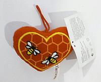 Сердечко с пчёлами, 10*6см(9631-3A)