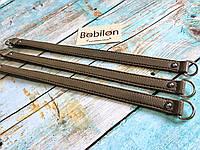 Ручка для сумки с полукольцами (эко-кожа), мокко
