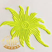 Кружевной фрагмент 14х9см Цвет- Tropic Lime  1шт