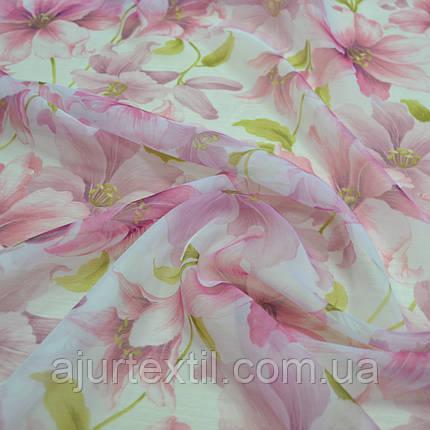 """Тюль друк """"Квітковий сад"""", фото 2"""