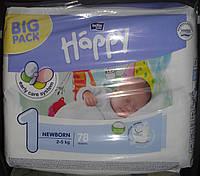 Подгузники Bella Happy 1 (2-5 кг) 78 шт.